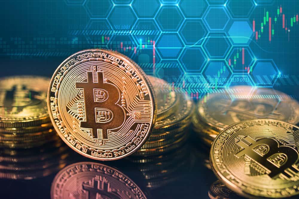 Bitcoins and New Virtual money concept. Source: Shutterstock.com