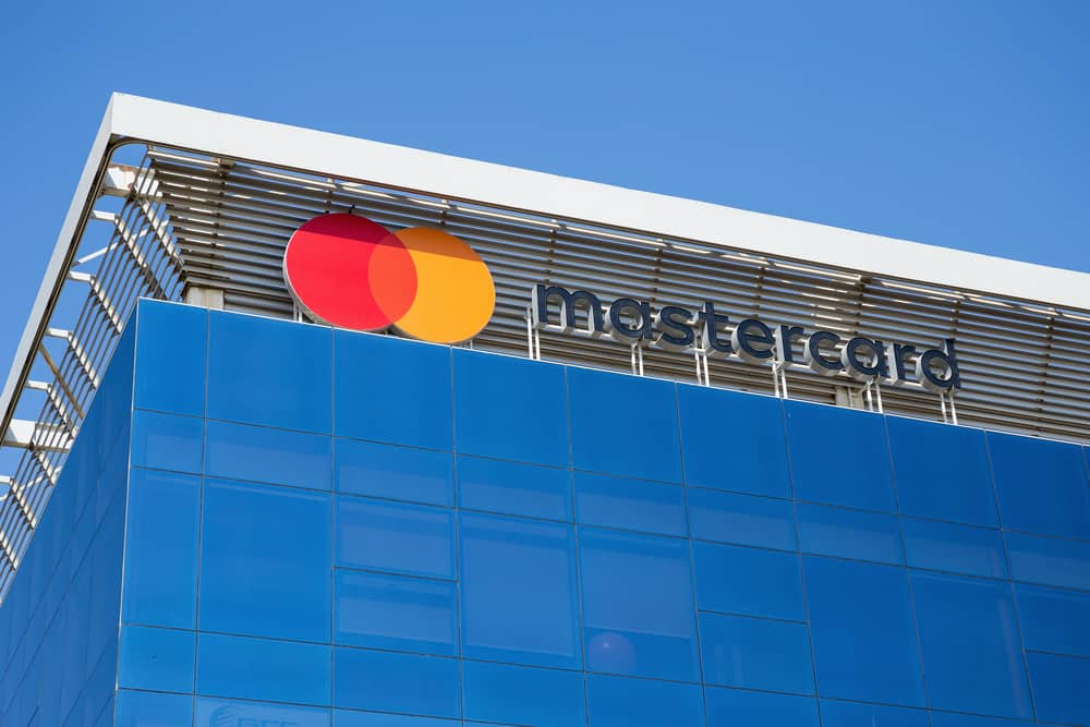 Sign of Mastercard on the office building. Source: Shutterstock.com