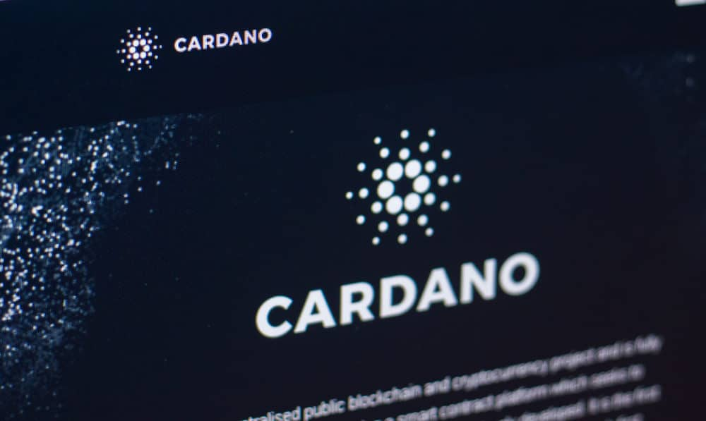 Logo of Cardano on homepage. Source: shutterstock.com