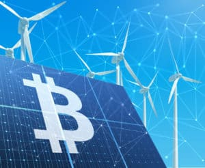 Solar-powered Bitcoin mining concept. Source: shutterstock.com