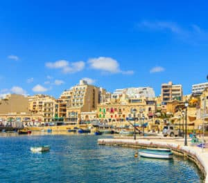 Spinola Bay in St Julian, Malta. Source: shutterstock.com