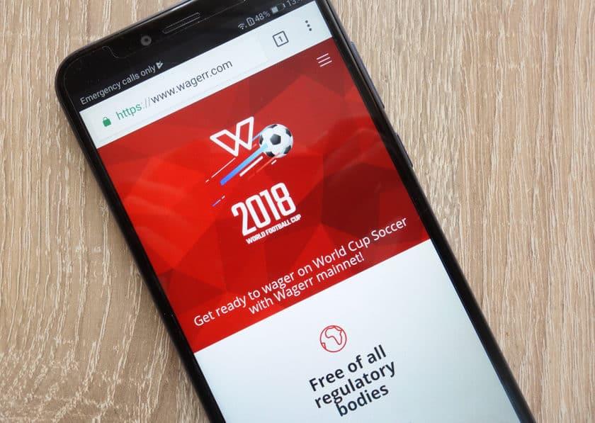 Wagerr app on smartphone