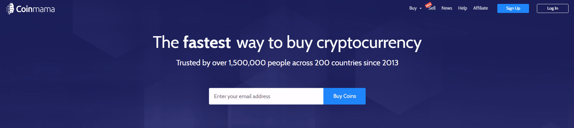 Coinmama Home Page