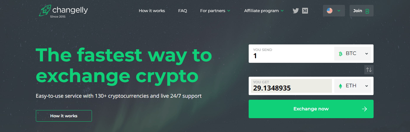 Changelly is one of the best cryptocurrency exchanges