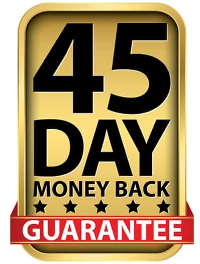 45 days Money back guarantee - Source: ShutterStock.com