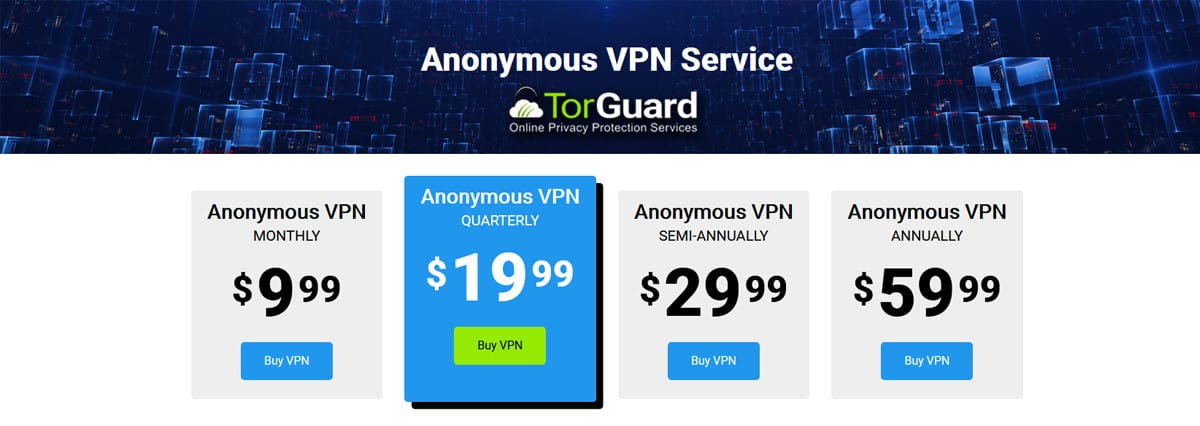 Anonymous VPN Service Pricing