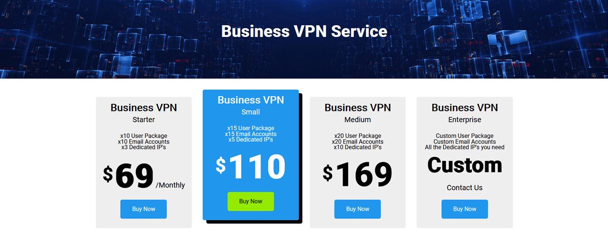 Business VPN Service Pricing