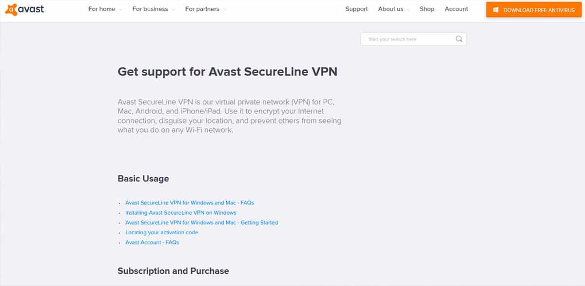 Customer Support - Source: Avast.com
