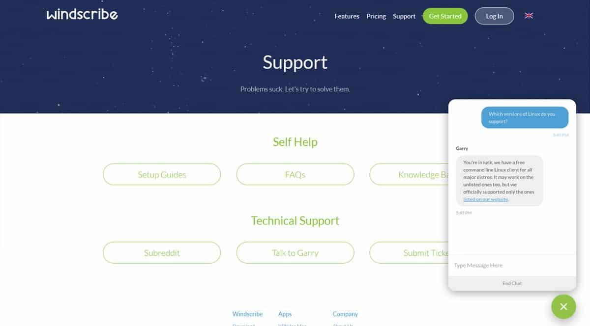 Customer Support - Windscribe.com