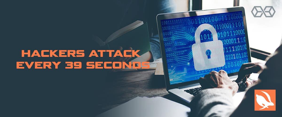 hacker attack every 39 seconds - Source: Securitymagazine.com
