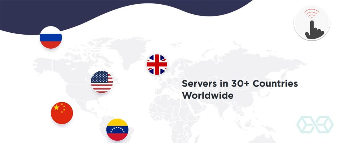 Servers in 30+ Countries Worldwide - Source: Touchvpn.net