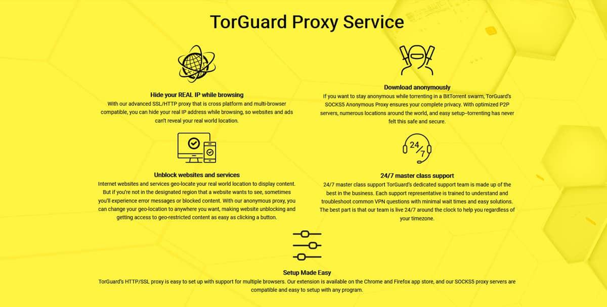 TorGuard Proxy Service