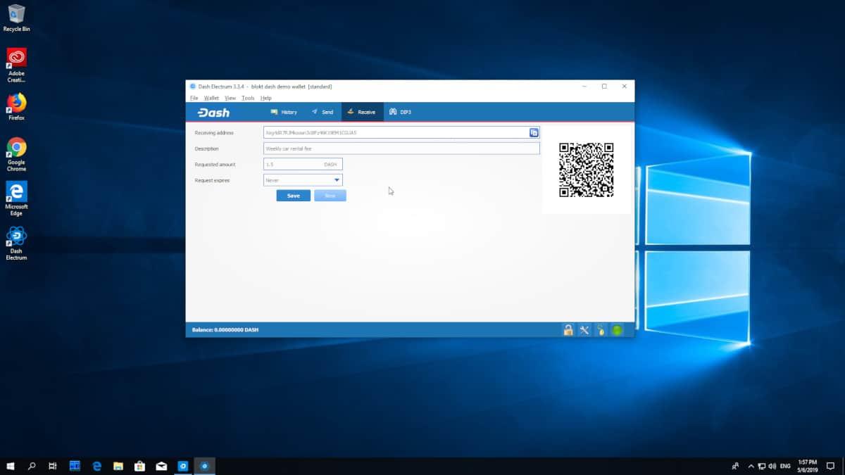 Dash Electrum Software Wallet