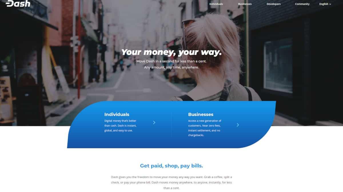 Dash.org Homepage