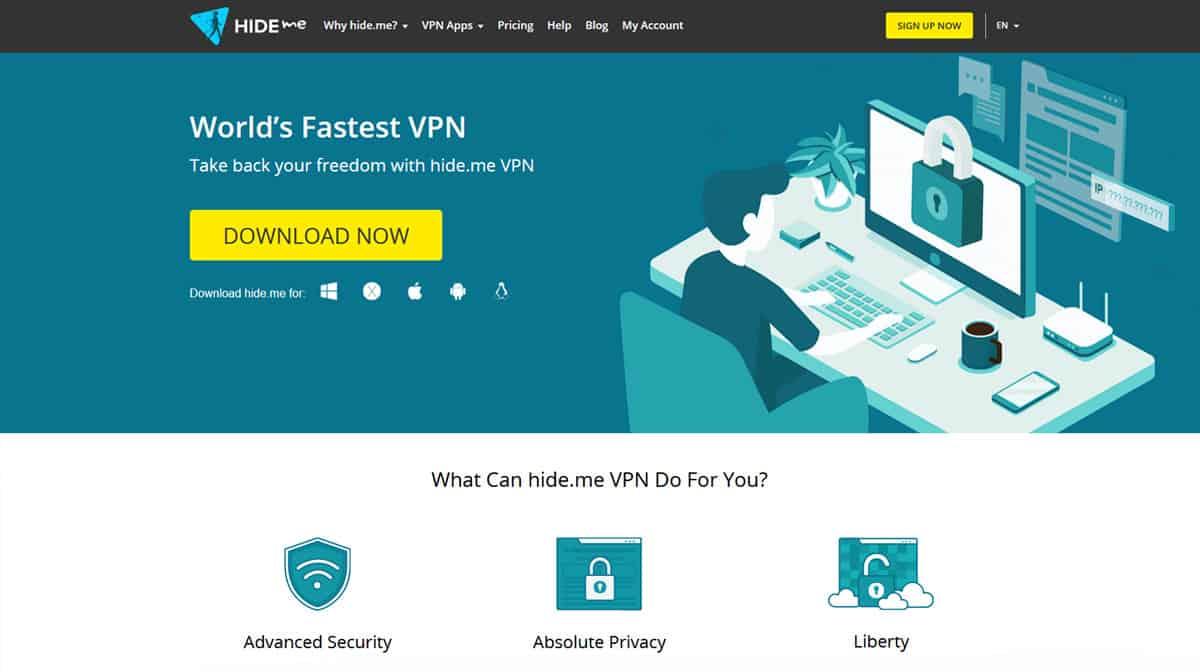 HideMe VPN Source: hide.me