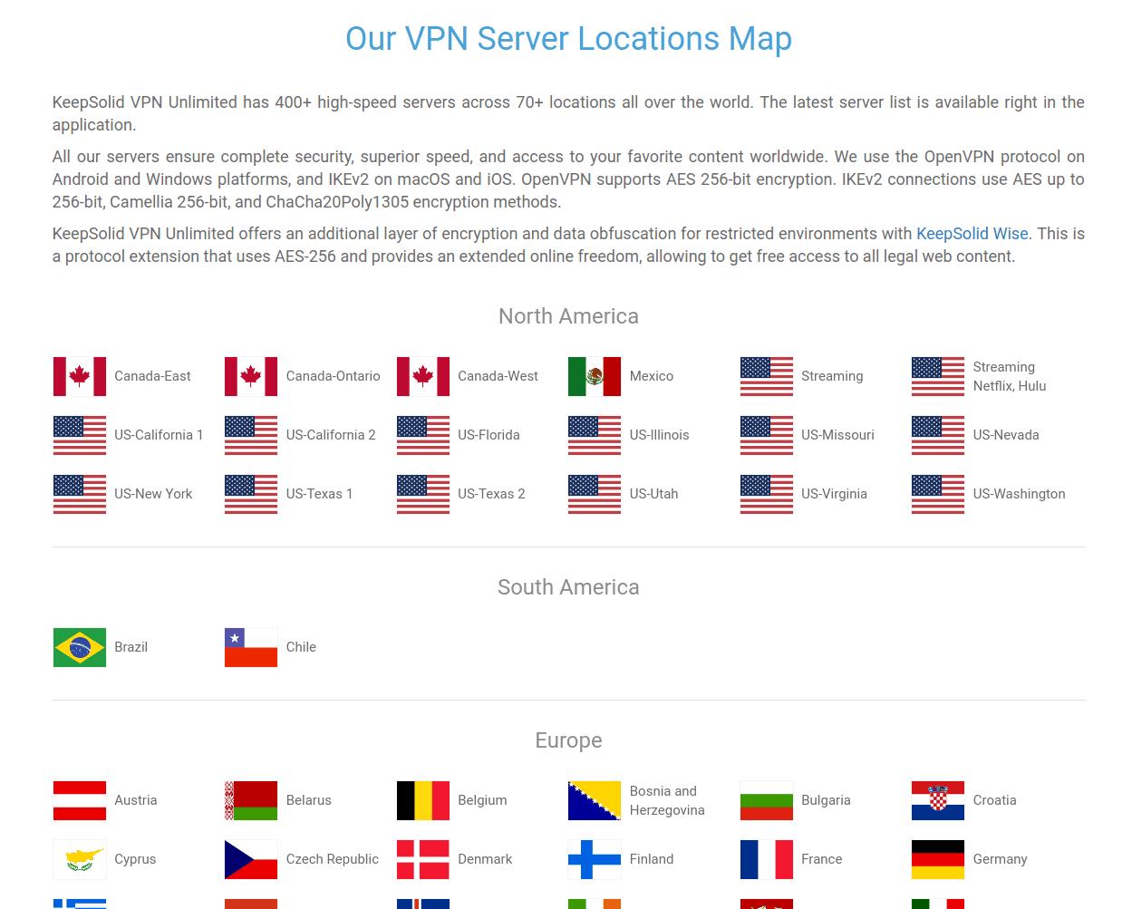 KeepSolid VPN Unlimited Global Coverage