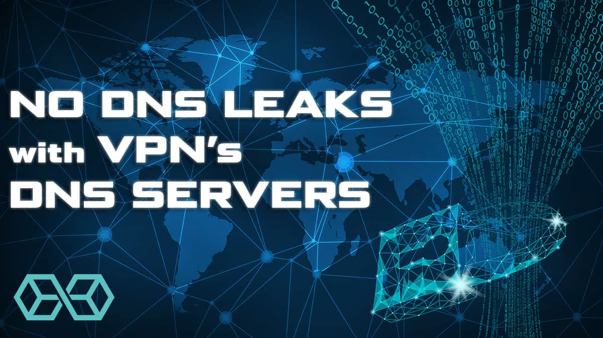 You're safe if your VPN provides it's own DNS service