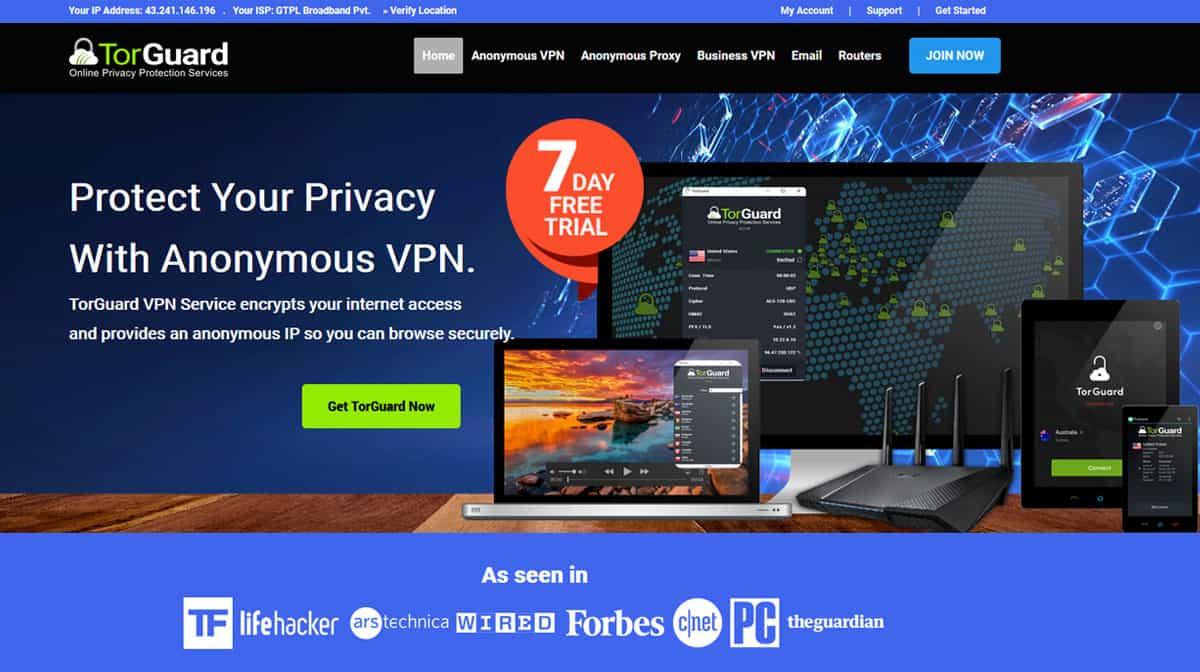 TorGuard VPN Source: torguard.net