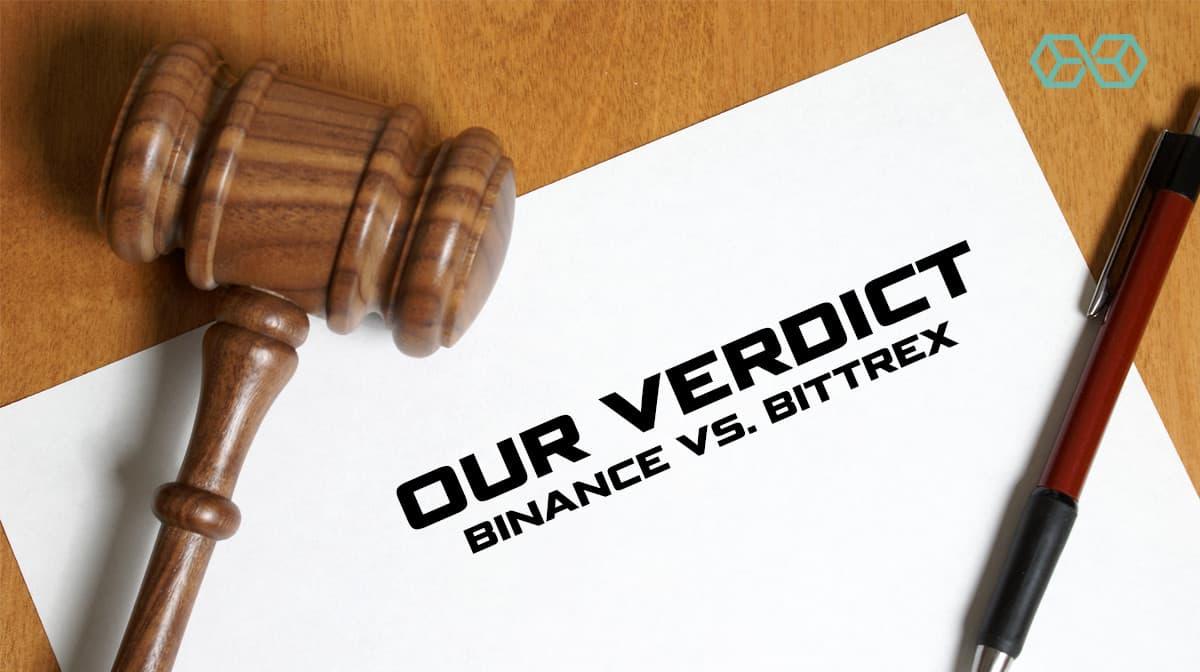 Our Verdict – Binance vs. Bittrex - Source: Shutterstock.com