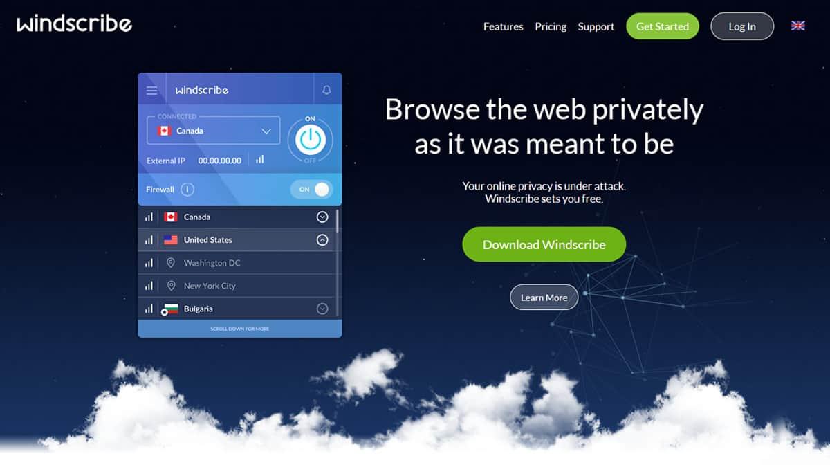 Windscribe VPN Source: windscribe.com