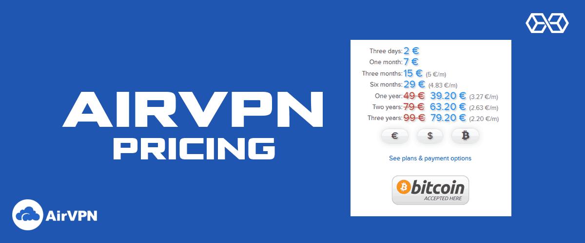 AirVPN Pricing