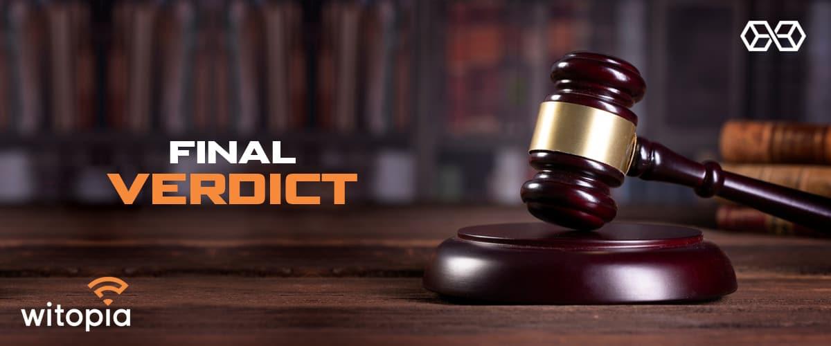 Final Verdict Witopia PersonalVPN - Source: Shutterstock.com