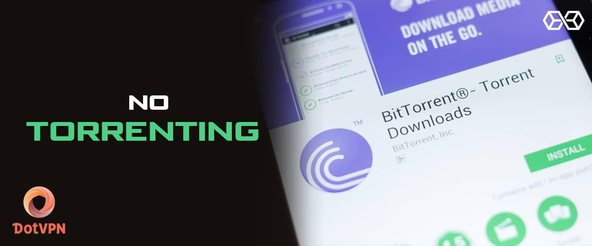 No Torrenting DotVPN - Source: Shutterstock.com