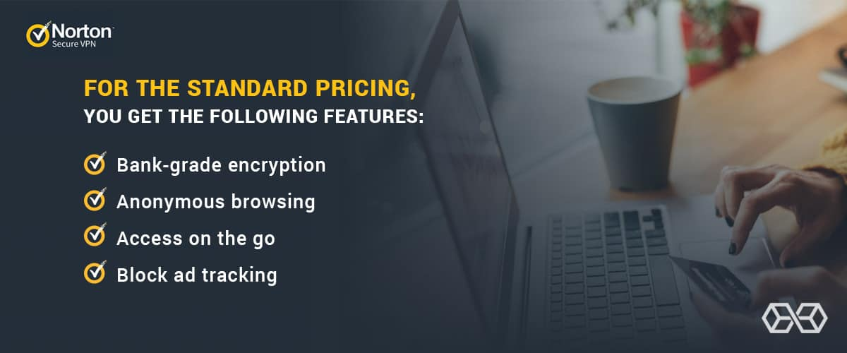 For the standard pricing, you get the following features for Norton Secure VPN