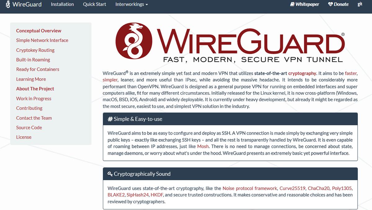WireGuard VPN Homepage