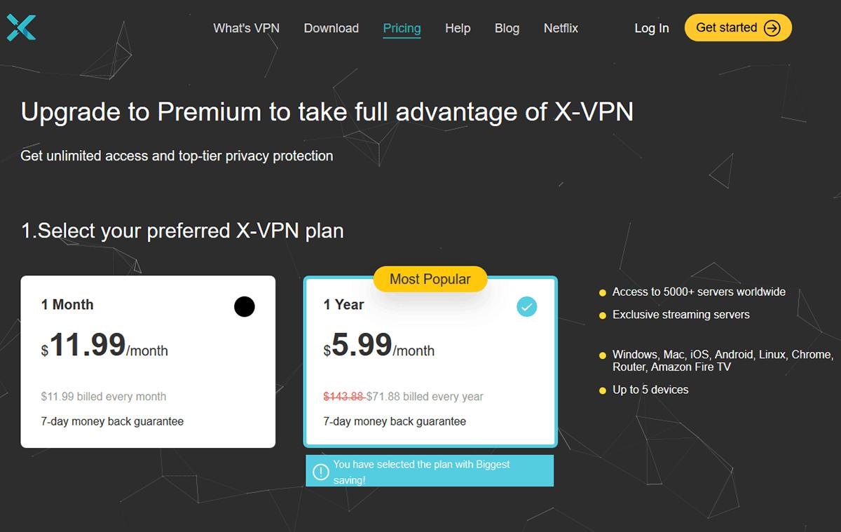 X-VPN Prices