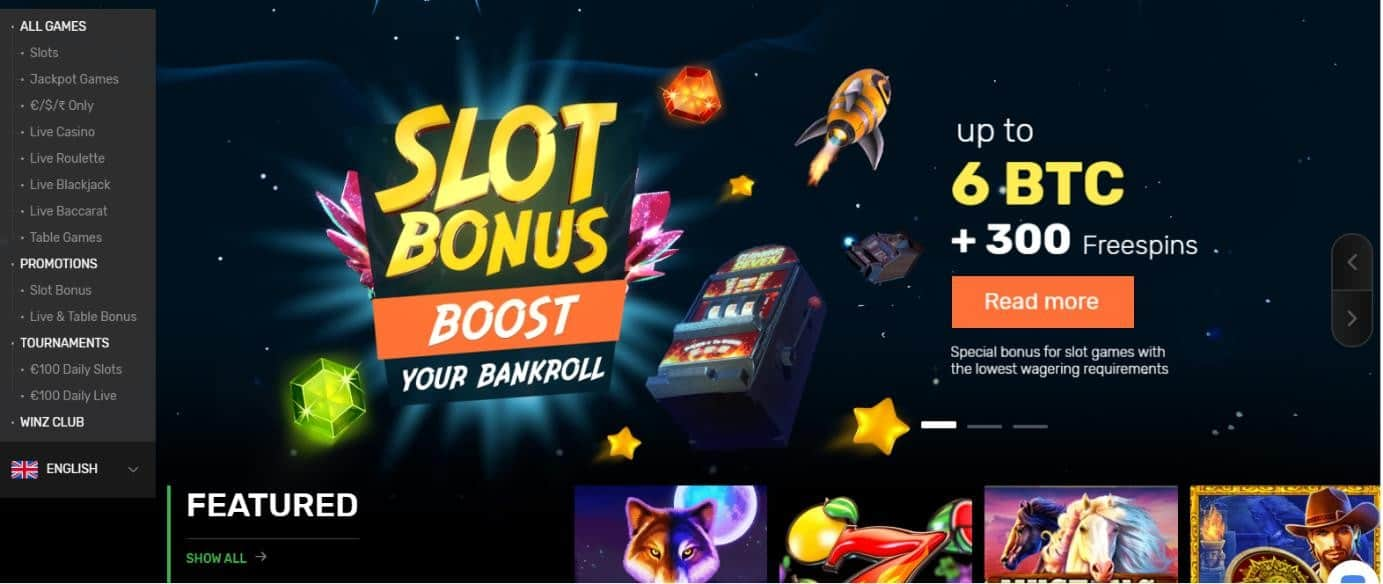 Winz has some great bonuses available
