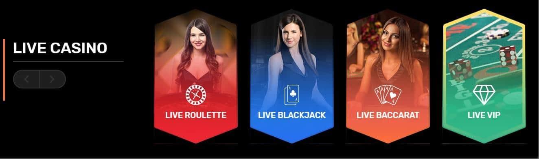 Winz.io Live Casino
